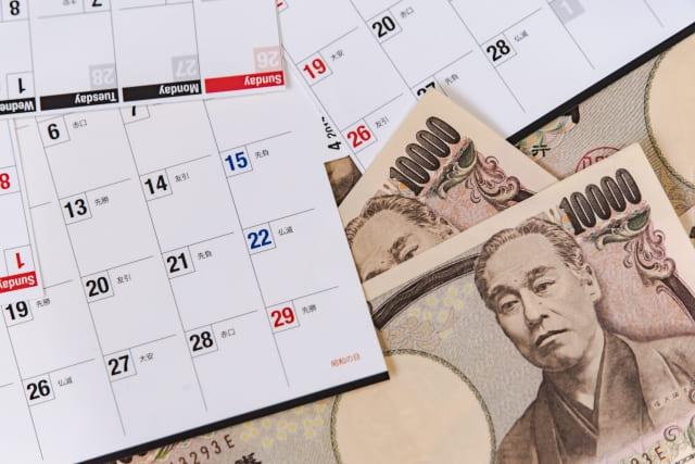 金額と日数