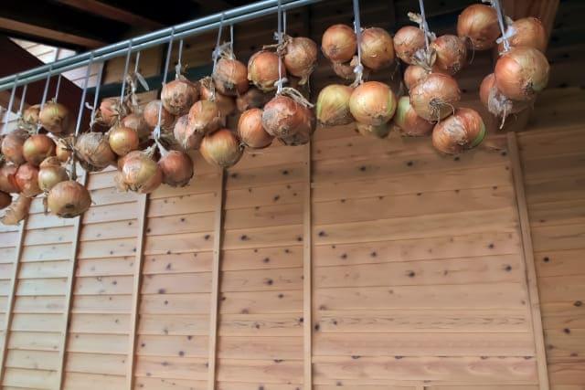 玉ねぎの吊るし保存